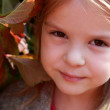 Close-up portrait of lovely girl — Stock Photo