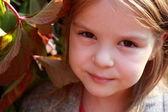 Close-up portrait of lovely girl — Stok fotoğraf