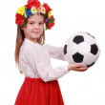 Football fan girl — Stock Photo