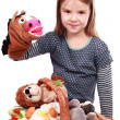 Child with toys — Stock Photo