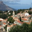 View of a mountain village in Corsica. (village of Evisa) — Stock Photo