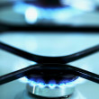 Gas stove flames - Stock Photo