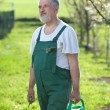Portrait of a senior man gardening in his garden — Stock Photo #7416021