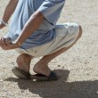 Boules (Petanque) game, French riviera — Stock fotografie