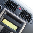 Modern car interior (shallow DOF - selective focus; color toned — Foto Stock