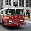 NYFD vehicle in midtown Manhattan - Stock Photo
