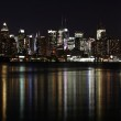 Midtown (West Side) Manhattan at night seen from Weehawken, NJ. — Stock Photo