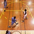 Stock Photo: Youth girls indood basketball