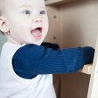 Cute toddler (shallow DOF; color toned image) — Stock Photo #7418036