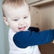 Cute toddler (shallow DOF; color toned image) — Stock Photo #7418038
