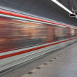Subway (motion blurred & color toned image) — Stock Photo #7418173