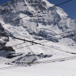 Swiss Alps (Jungfraujoch with its tiny cog train) — Stock Photo