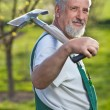 Portrait of a senior man gardening in his garden - Foto de Stock