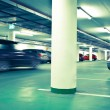 Underground parking/garage (color toned image) — Stock Photo #7419587