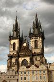 Tynsky church in Prague, Czech republic. — Stock Photo