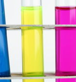 Science concept - chemistry lab glassware equipment (test tubes — Stock Photo
