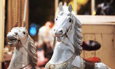 Carousel horse ride at a amusemnent park — Stock Photo