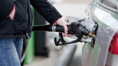 Car fueling at the gas station — Stock Photo