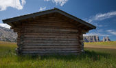 Mountain cabin with plenty room for your text/adverstising — ストック写真