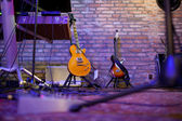 Stage in a music club — Stock Photo