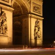 Twilight view of the Arc de Triomphe (Arch of Triumph) — Stock Photo #7422269