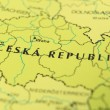 Czech republic as a travel destination on a map - Stock Photo