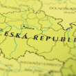 Czech republic as a travel destination on a map - Foto Stock