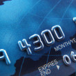 Close-up van een credit card — Stockfoto