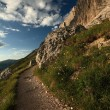 Mountain hiking trail — Stock Photo