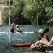 White wate kayaking — Stock Photo