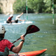 White wate kayaking — Stock Photo #7423323