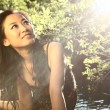 Gorgeous asian woman - Stock Photo