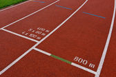 Sport grounds concept - Athletics Track Lane — Stock Photo
