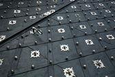 Metal mounted door of a castle. — Stock Photo