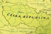 Czech republic as a travel destination on a map — Stock Photo