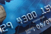 Close-up of a credit card — Stock Photo