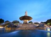 Nightshot of La Rotonde fountain — Stock Photo