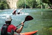 White wate kayaking — Stock Photo
