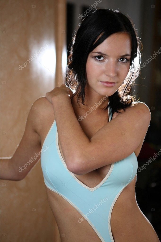 Portrait of very attractive brunette — Stock Photo #7420359