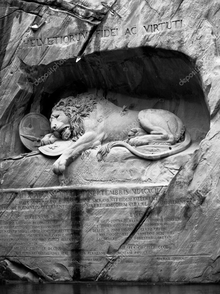Lion of Lucerne, Switzerland  Stock Photo #7421391