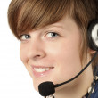Women with headset — Stock Photo