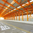 Orange tunnel and highway at day — Stock Photo #6809603