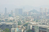 Quartier de kowloon hong kong au centre-ville au moment de la journée — Photo