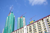 Chantier de construction à hong kong à jour — Photo