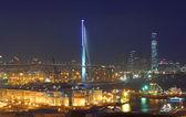 Hong Kong bridge and industrial site — Stock Photo