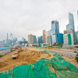 Stock Photo: Construction site for new highway in Hong Kong