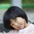 Asian young girl smiling — Stock Photo