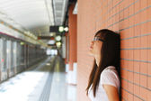 Asian woman thinking — Stock Photo