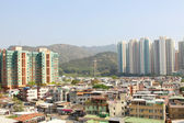 Hong Kong downtown and residential buildings — Stock Photo