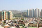 Hong kong centrum i mieszkalnych budynków — Zdjęcie stockowe